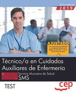 Técnico/a en Cuidados Auxiliares de Enfermería.  Servicio Murciano de Salud. SMS. Test