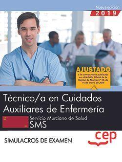 Técnico/a en Cuidados Auxiliares de Enfermería.  Servicio Murciano de Salud. SMS. Simulacros de Examen