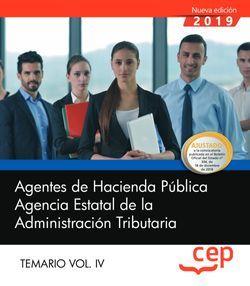 Agentes de Hacienda Pública. Agencia Estatal de la Administración Tributaria. Temario Vol. IV.