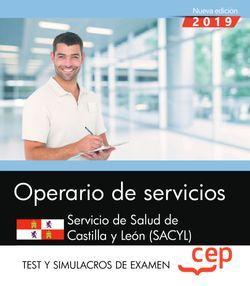 Operario de servicios. Servicio de Salud de Castilla y León. SACYL. Test y Simulacros de examen