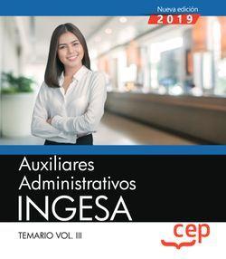 Auxiliares Administrativos. INGESA. Temario Vol.III