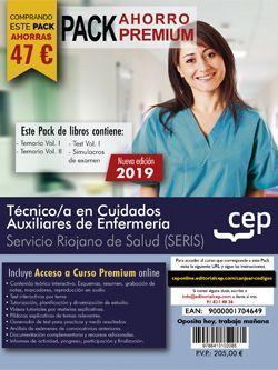 PACK AHORRO PREMIUM. Técnico/a en Cuidados Auxiliares de Enfermería. Servicio Riojano de Salud (SERIS). (Incluye Temarios I y II, Test y Simulacros y Curso Premium online 6 meses)
