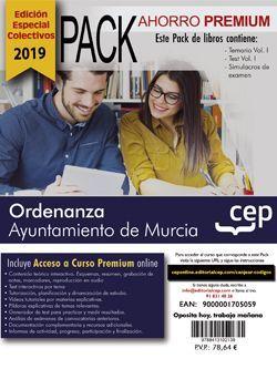 PACK AHORRO PREMIUM. Ordenanza. Ayuntamiento de Murcia (Incluye Temario, Test y Simulacros y Curso Premium online 6 meses) (EDICIÓN ESPECIAL COLECTIVOS)