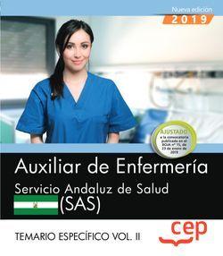Auxiliar de Enfermería. Servicio Andaluz de Salud. SAS. Temario específico. Vol. II.