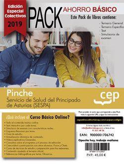 PACK AHORRO BASICO. Pinche. Servicio de Salud del Principado de Asturias (Incluye Temario general y específico, Test y Simulacros y Curso Básico on Line) (EDICIÓN ESPECIAL COLECTIVOS)