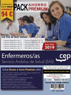 PACK AHORRO PREMIUM. Enfermeras/os Servicio Andaluz de Salud (SAS). (Incluye Temarios Vol. I, II, III, IV, V, VI y VII Test Vol I y II y Simulacros + Curso Premium online 6 meses)