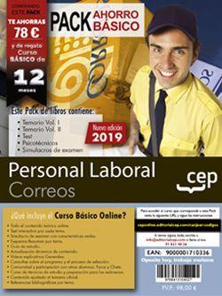 PACK AHORRO BÁSICO. Personal Laboral. Correos. (Incluye Temarios Vol. I y II, Test, Simulacros Y Psicotécnicos + Curso Básico)