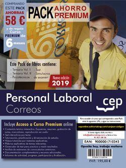 PACK AHORRO PREMIUM. Personal Laboral. Correos. (Incluye Temarios Vol. I y II, Test, Simulacros Y Psicotécnicos + Curso Premium Online 6 meses)