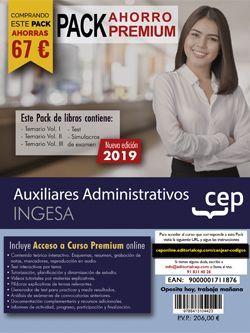 PACK AHORRO PREMIUM. Auxiliares Administrativos. INGESA (Incluye Temarios Vol. I, II y III, Test y Simulacros + Curso Premium Online 6 meses)