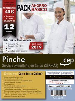 PACK AHORRO BÁSICO. Pinche. Servicio Madrileño de Salud. SERMAS. (Incluye Temario Vol.I y II, Test y Simulacros de Exámen + curso básico online  valorado en 45€)
