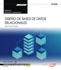 Manual. Diseño de bases de datos relacionales (Transversal: UF2175). Certificados de profesionalidad