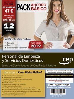 PACK AHORRO BÁSICO. Personal de Limpieza y Servicios Domésticos. Junta de Comunidades de Castilla-La Mancha. (Incluye Temario, Test y Simulacros de Exámen + Curso Básico Online)