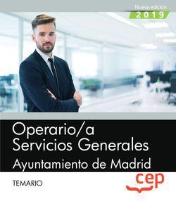 Operario/a Servicios Generales. Ayuntamiento de Madrid. Temario