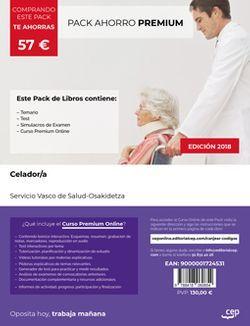 PACK PREMIUM. Celador/a. Servicio vasco de salud-Osakidetza (Incluye Temario, Test y Simulacros de examen + Curso Premium 6 meses)