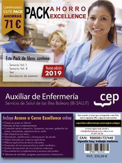 PACK AHORRO EXCELLENCE. Auxiliar de Enfermería. Servicio de Salut de las Illes Balears. IB-SALUT (Incluye Temario Vol.I y II, Test y Simulacros de Examen + Curso Excellence 6 meses)