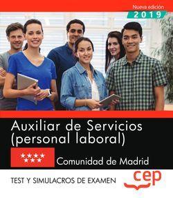 Auxiliar de Servicios (personal laboral). Comunidad de Madrid. Test y Simulacros de examen