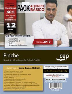 PACK BÁSICO. Pinche. Servicio Murciano de Salud (Incluye Temario Vol. I y II, Test y Simulacros de examen + Curso Básico valorado en 45€)