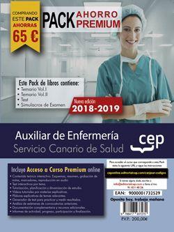 PACK PREMIUM. Auxiliar de Enfermería. Servicio Canario de Salud. SCS. (Incluye Temario Vol.I y Vol.II, Test y Simulacros de examen + Curso Online Premium 6 meses)