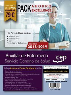 PACK EXCELLENCE. Auxiliar de Enfermería. Servicio Canario de Salud. SCS. (Incluye Temario Vol.I y Vol.II, Test y Simulacros de examen + Curso Online Excellence 6 meses)