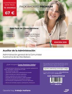 PACK AHORRO PREMIUM. Auxiliar Administrativo. Administración general de la Comunidad Autónoma de las Illes Balears (Incluye Temario Vol.I, II y III, Test y Simulacros + Curso Premium Online 6 meses).