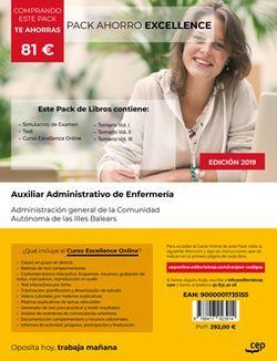 PACK AHORRO EXCELLENCE. Auxiliar Administrativo. Administración general de la Comunidad Autónoma de las Illes Balears (Incluye Temario Vol.I, II y III, Test y Simulacros + Curso Excellence Online 6 meses).