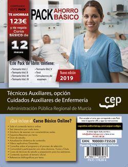 PACK AHORRO BÁSICO. Técnicos Auxiliares, opción Cuidados Auxiliares de Enfermería de la Administración Pública Regional de Murcia. (Incluye Vol. I, II, III, IV y V, Test y Simulacros de Examen + Curso Básico Online valorado en 79€)