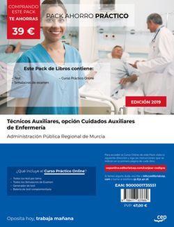 PACK AHORRO PRÁCTICO. Técnicos Auxiliares, opción Cuidados Auxiliares de Enfermería de la Administración Pública Regional de Murcia. (Incluye Test y Simulacros de Examen + Curso Práctico Online)