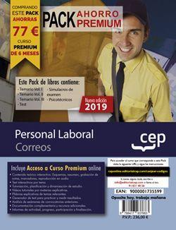 PACK AHORRO PREMIUM. Personal Laboral. Correos (Incluye Vol.I, II y III, Test, Simulacros de examen y Psicotécnicos + Curso Premium Online 6 meses)