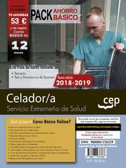 PACK AHORRO BÁSICO. Celador/a. Servicio Extremeño de Salud (Incluye Temario, Test y Simulacros de examen + Curso Básico Online valorado en 45 €)