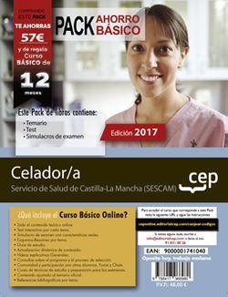 PACK AHORRO BÁSICO. Celador/a. Servicio de Salud de Castilla-La Mancha (SESCAM) (Incluye Temario, Test y Simulacros de Examen + Curso BÁSICO Online)