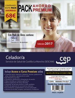 PACK AHORRO PREMIUM. Celador/a. Servicio de Salud de Castilla-La Mancha (SESCAM) (Incluye Temario, Test y Simulacros de Examen + Curso PREMIUM Online 6 Meses)