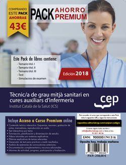 PACK AHORRO PREMIUM. Tècnic/a de grau mitjà sanitari en cures auxiliars d'infermeria. Institut Català de la Salut (ICS). (Incluye Temarios Vol. I, II, III, Test y Simulacros + Curso Premium On Line 6 meses)