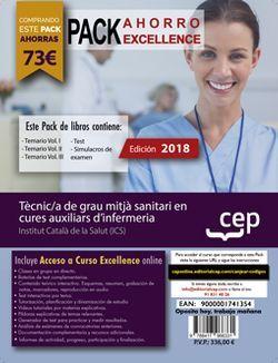PACK AHORRO EXCELLENCE. Tècnic/a de grau mitjà sanitari en cures auxiliars d'infermeria. Institut Català de la Salut (ICS). (Incluye Temarios Vol. I, II, III, Test y Simulacros + Curso Excellence On Line)