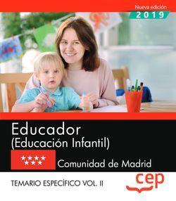 Educador (Educación Infantil). Comunidad de Madrid. Temario específico Vol.II