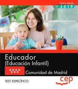 Educador (Educación Infantil). Comunidad de Madrid. Test específico