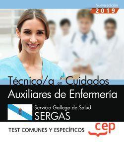 Técnico/a en Cuidados Auxiliares de Enfermería. Servicio Gallego de Salud. SERGAS. Test comunes y específicos