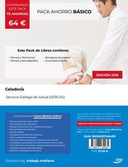 PACK AHORRO BÁSICO. Celador/a. Servicio Gallego de Salud (SERGAS) (Incluye Temario y test común y específico y Simulacros de examen + Curso Básico Online)