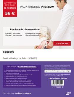 PACK AHORRO PREMIUM. Celador/a. Servicio Gallego de Salud (SERGAS) (Incluye Temario y test común y específico y Simulacros de examen + Curso Premium Online)