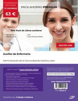 PACK AHORRO PREMIUM. Auxiliar de Enfermería. Administración de la Comunidad de Castilla y León (Incluye Temario Vol.I y II y Test + Curso PREMIUM 6 meses)