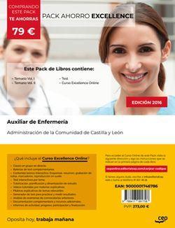 PACK AHORRO EXCELLENCE. Auxiliar de Enfermería. Administración de la Comunidad de Castilla y León (Incluye Temario Vol.I y II y Test + Curso EXCELLENCE 6 meses)