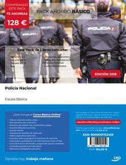 PACK AHORRO BÁSICO. Policía Nacional. Escala Básica (Incluye Temario Vol. I, II y III, Test, Simulacros de Examen y Manual de Ortografía, Psicotécnicos y Entrevista Personal + Curso Básico Online)