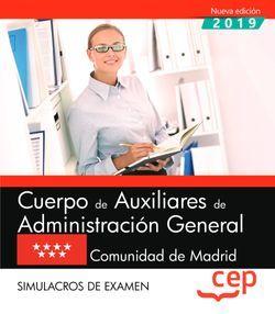 Cuerpo de Auxiliares de Administración General. Comunidad de Madrid. Simulacros de examen