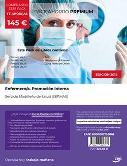 PACK AHORRO PREMIUM. Enfermero/a. Promoción interna. Servicio Madrileño de Salud (SERMAS). (Incluye Temarios Vol. I, II, III y IV, Test y Simulacros + Curso Premium Online)