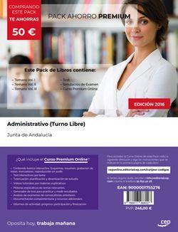 PACK AHORRO PREMIUM. Administrativo (Turno Libre). Junta de Andalucía (Incluye Vol. I, II y III, Test y Simulacros + Curso PREMIUM Online 6 meses)