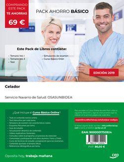 PACK AHORRO BÁSICO. Celador. Servicio Navarro de Salud. OSASUNBIDEA. (Incluye Temario Vol. I y II, Test y Simulacros de Examen + Curso Básico Online valorado en 49 euros)