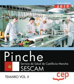 Pinche. Servicio de Salud de Castilla-La Mancha. SESCAM. Temario Vol. II
