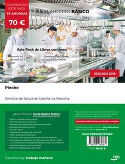 PACK AHORRO BÁSICO. Pinche. Servicio de Salud de Castilla-La Mancha. SESCAM. (Incluye Temario Vol.I y II, Test y Simulacros de Examen+ Curso BÁSICO valorado en 45 euros).