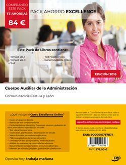 PACK AHORRO EXCELLENCE. Cuerpo Auxiliar de la Administración de la Comunidad de Castilla y León. (Incluye Temario Vol I y II, Test y Psicotécnicos + Curso EXCELLENCE Online)
