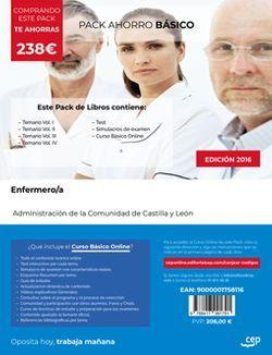 PACK AHORRO BÁSICO. Enfermero/a de la Administración de la Comunidad de Castilla y León (Incluye Temario Vol. I, II, III y IV, Test y Simulacros de examen + Curso BÁSICO Online)