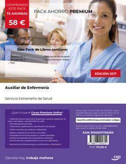 PACK AHORRO PREMIUM. Auxiliar de Enfermería. Servicio Extremeño de Salud. (Incluye Temario Vol. I y II, Test y Simulacros de examen + Curso PREMIUM Online 6 Meses)